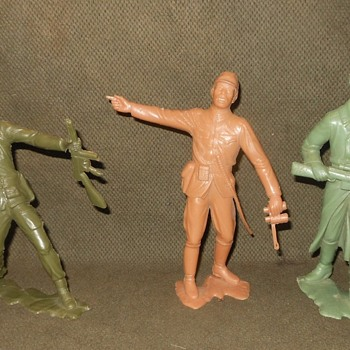 Marx Six Inch WWII Toy Soldiers 1960s - Toys