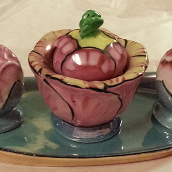 Salt, Pepper, & mustard set -- Seiei & Co., Japan - Pottery