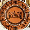 Metaxa Collectible Plate For Manto Imported Greek Liqueur