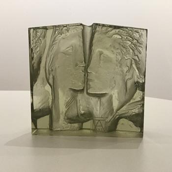 JAN CZERNÝ - 'FACES' Nr. 150 - 096  - Art Glass