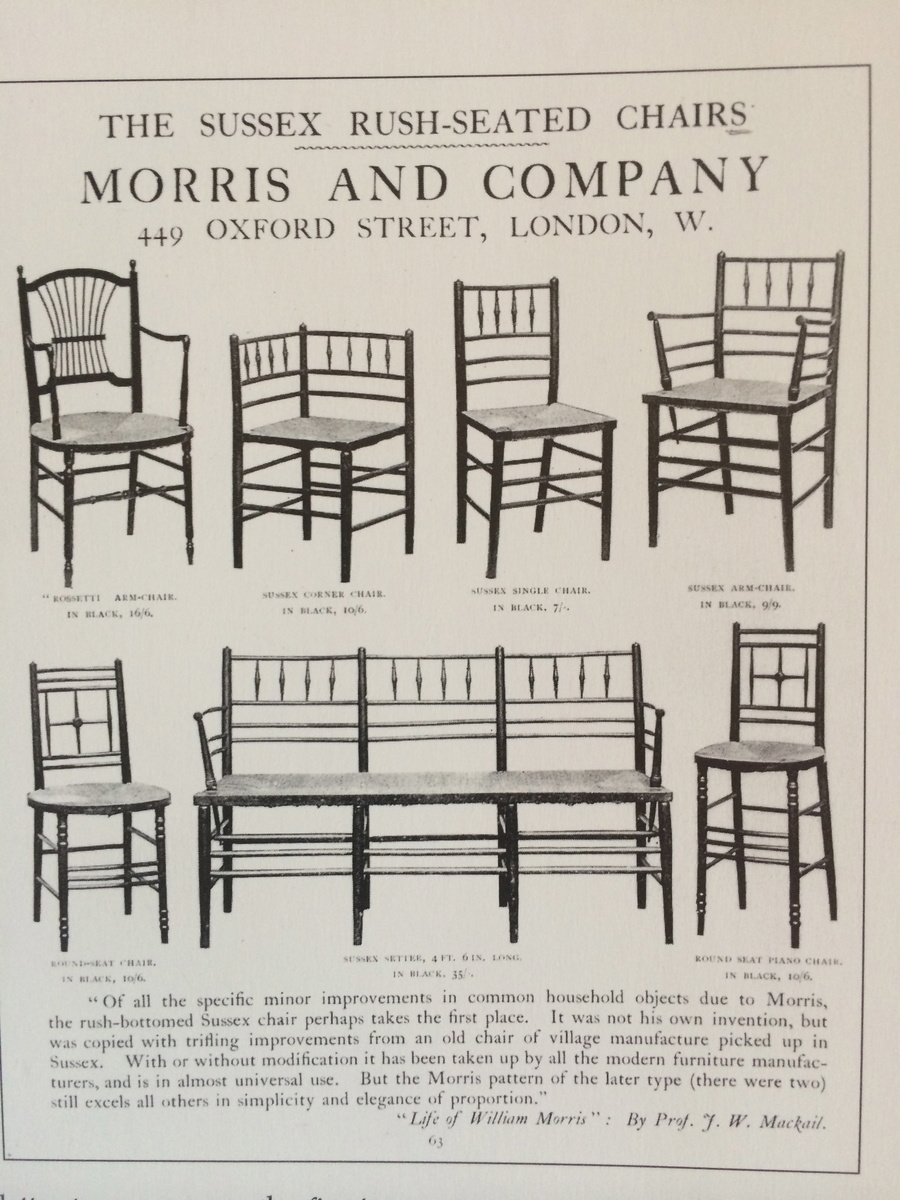William Morris Sussex Chair By Ford Maddox Brown Collectors Weekly - William morris chairs