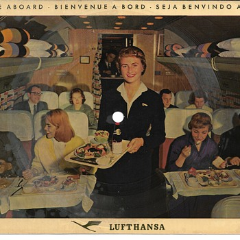 Lufthansa Post Card with Sound, Circa 1960 - Postcards