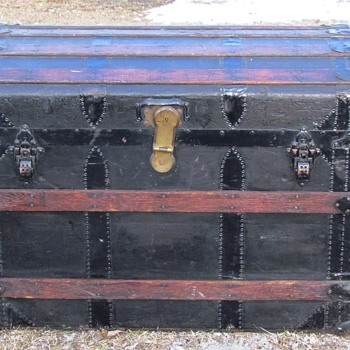 1880's - 1890's Rich Reed & Atwood Boston Mass. Trunk - Furniture