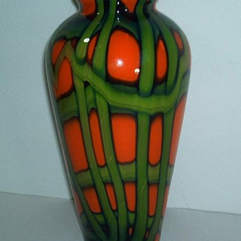 Kralik decor #7 - webbed design - Art Glass
