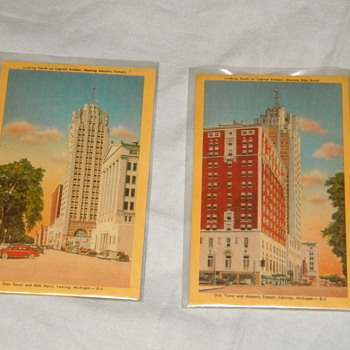 Vintage Lansing, Michigan Postcards - Postcards