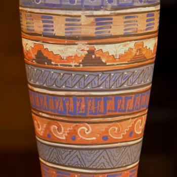 Very Large Mayan Revival Vase - Pottery
