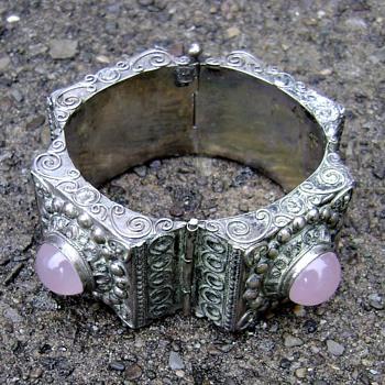 Vintage Portuguese Rose Quartz Bracelet - Fine Jewelry