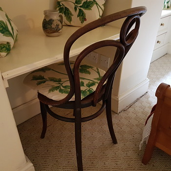 Think Beech Moulded Seat Chair? (Victorian?) - Furniture