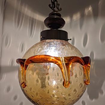 Brutalist pendant lamp - Art Glass