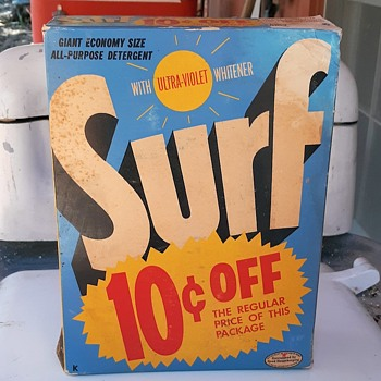 Vintage Surf Laundry Detergent and It Is 10 Cents Off! - Advertising