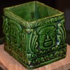 Interesting Green-glazed Ceramic Box