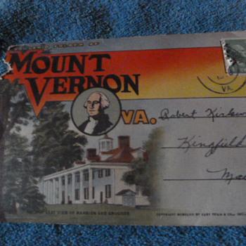 Mount Vernon, VA ~ Souvenir folder of photos