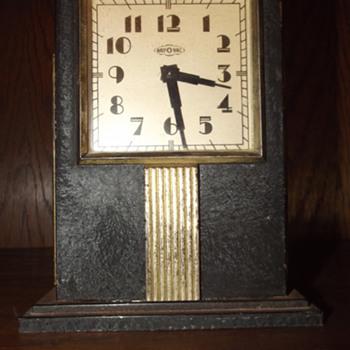 1930's Ray-O-Vac Skyscraper Battery Operated Advertisement Clock