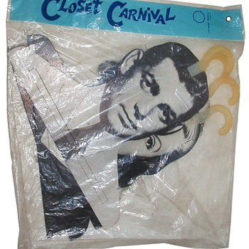 1960's Pop Art Movie Star Clothes Hangers: Gable, Garbo, Bogart and Harlow dated 1967 - Movies