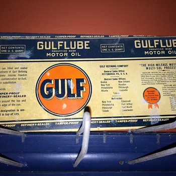 1930's GULFLUBE oil can.  - Petroliana