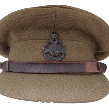 British Army Chaplain's visor cap. - Military and Wartime