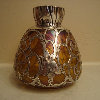 Loetz silver overlay vase? - Art Glass