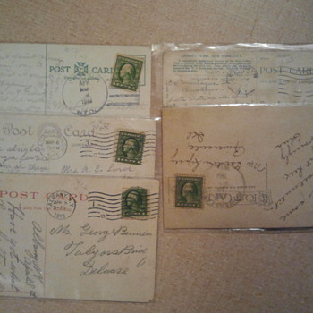 Lot 6 - Early 20th century stamps and post cards - Stamps