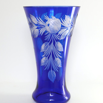 Loetz 'Blumenschliff 333' Cut Glass Vase - Art Glass