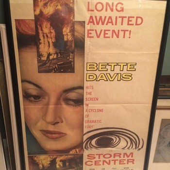 1950s Original Bette Davis Movie Poster