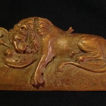 The Lion of Lucern - Folk Art