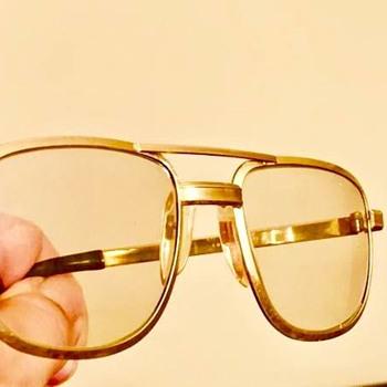94fb6ea2b1d Rare Mid Century Japanese Platinum Aviator Safety Glasses