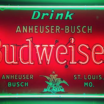 Budweiser Neon Sign  - Breweriana