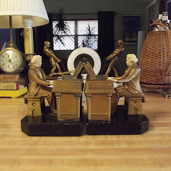 1932 J. B. Hirsch Beethoven Bookends designed by J Ruhl