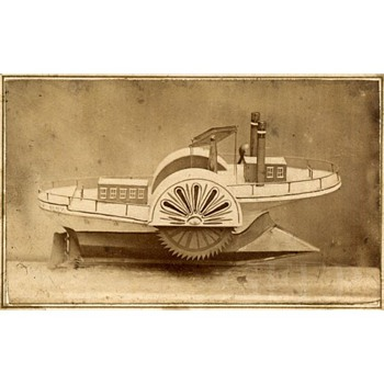1867 CDV of an Ice Boat Model for Patent - Photographs