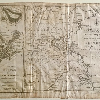 Boston Map 1776  - Paper
