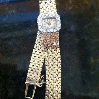1960's Vintage abel square diamond 14k gold ladies watch