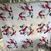 Wilendur pre-1958 Lobster tablecloth 52 x 54 and Lobster hostess apron