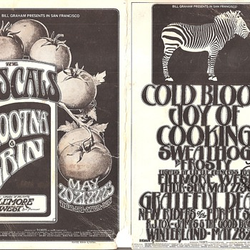 Rascals, Cold Blood, Grateful Dead postcard, with Lydia Pense autograph - Posters and Prints