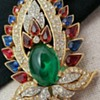 Rare Crown Trifari  1965 Jewels of India Brooch