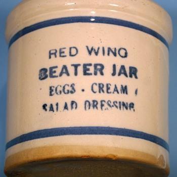 Vintage Sunder's General Merchandise~Jordan, MN ~Red Wing Pottery Beater Jar - Pottery