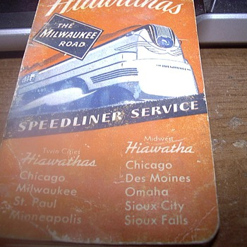 1941 THE MILWAUKEE ROAD NOTEPAD