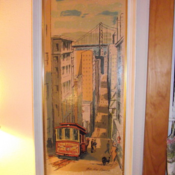 1963 Metalcraft Print of San Francisco by Thomas Lloyd Ramsier - Posters and Prints