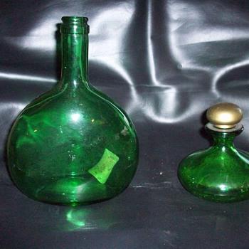 funky green bottles - Bottles