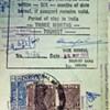 Passport revenue stamps.