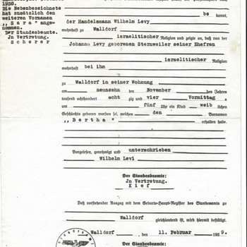 World War II Era travel documents request for travel from Germany to Cuba 1941 - Paper