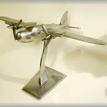 Art Deco Looking --- Desk Air Plane Decor  - Advertising