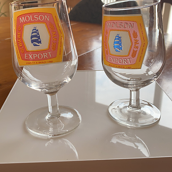 Molson Export Glass Mystery ?  - Breweriana
