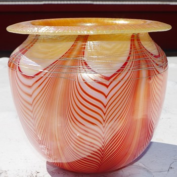 my jardiniere pot   - Art Glass