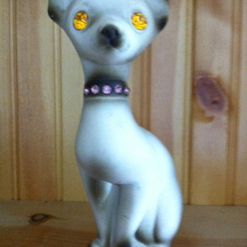 Mystery glass Chihuahua figure made in Calif