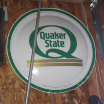 Quaker State round Sign - Signs
