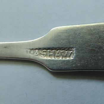 Coin Silver Spoon - GEORGE SHAW Newport, RI  1802-1814   - Silver