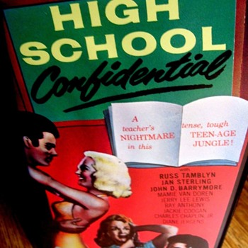 "VHS MOVIE ""HIGH SCHOOL CONFIDENTIAL, 1958, B&W RUSS TAMBLYN"
