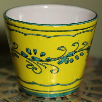 Italian Ceramic Cache Pot - Pottery