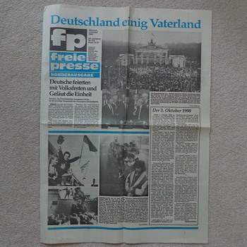 1990 Newspaper: German Reunification  - Paper