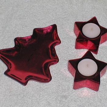 Christmas Tree Dish & Star Candleholders